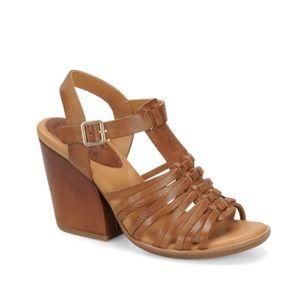 Korkease Leather Pepper Block Sandal in Cruz